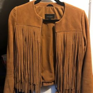 Mackage. Fringe leather jacket